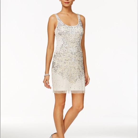 Dresses & Skirts - Adrianna Papell embellished mesh tank size 8